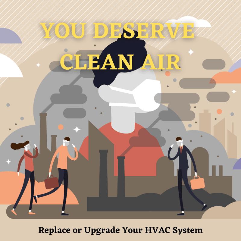 modern hvac system and clean air